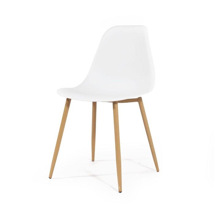 blanche scandinave Chaise Made In piétement compaspx bois qUpGzMVLS