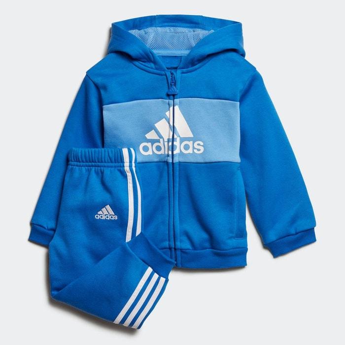 Ensemble bébés logo hooded bleu Adidas Performance   La Redoute