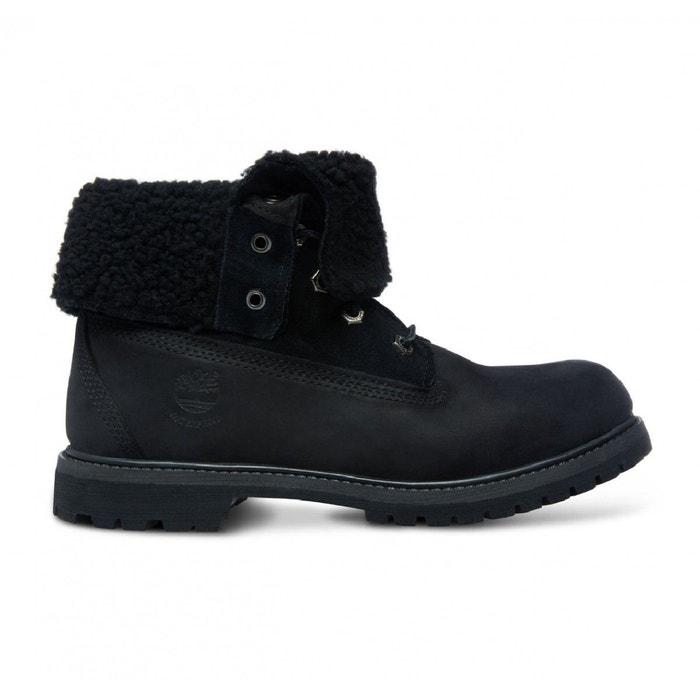 Boot authentics teddy fleece waterproof fold down noir