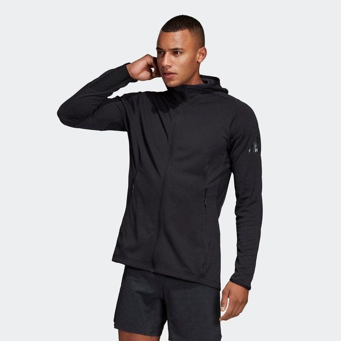 Veste à capuche freelift climacool noir Adidas Performance