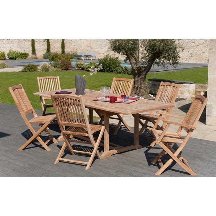 Salon de jardin table d\'extérieur rectangulaire 180x100cm 2 ...