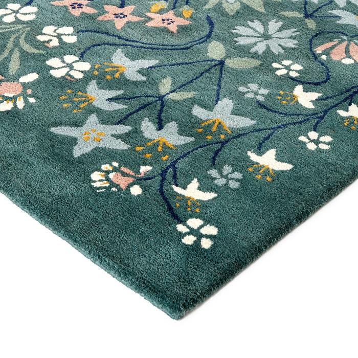 Pilar Floral Wool Rug Multi Coloured La Redoute Interieurs La Redoute