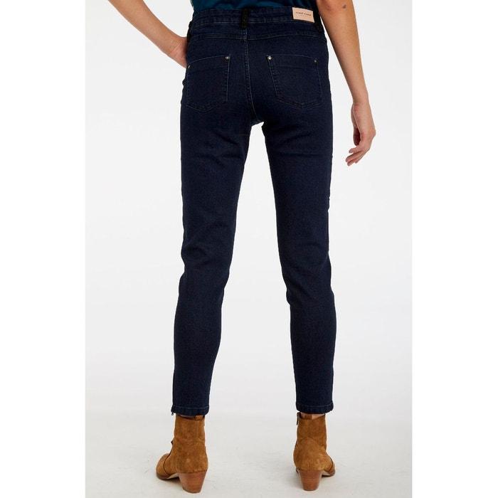 mode la plus désirable acheter en ligne Prix 50% Jean brut zip en bas de jambe bleu Naf Naf | La Redoute