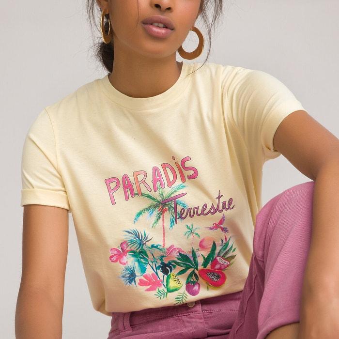 T-shirt col rond manches courtes imprimé devant  LA REDOUTE COLLECTIONS image 0