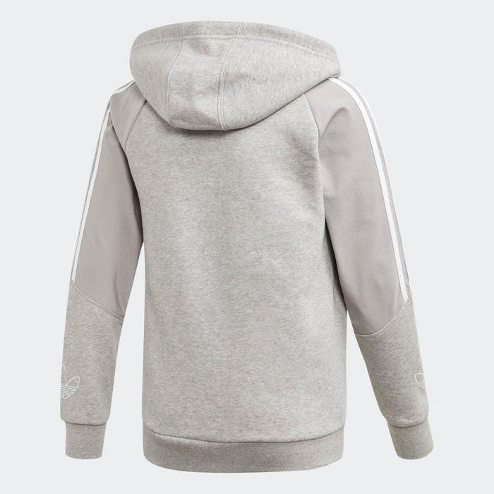 Veste à capuche outline gris Adidas Originals   La Redoute