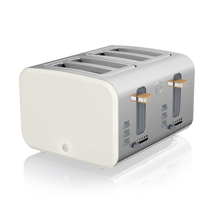 Swan Nordic Jug Kettle and 4 Slice Toaster Set Grey Kitchen Appliances