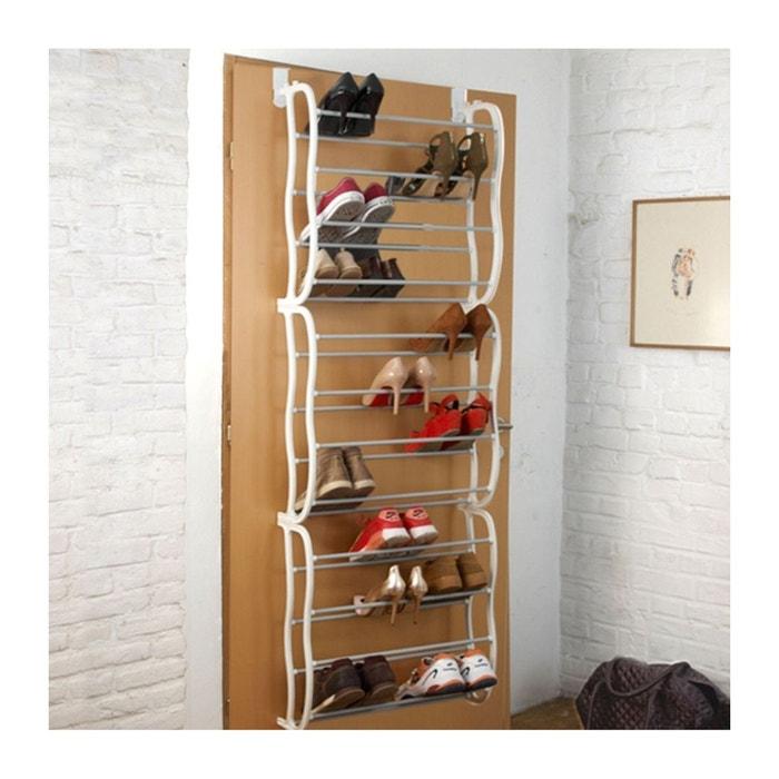 Etagère à chaussures sur porte 36 paires