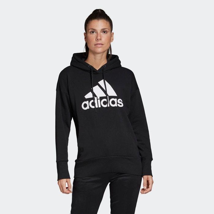 Sweat à capuche badge of sport noir Adidas Performance | La