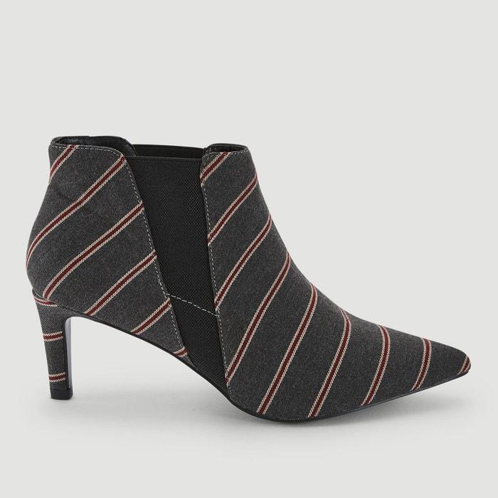 mode de premier ordre styles classiques remise chaude Boots rayés à talons