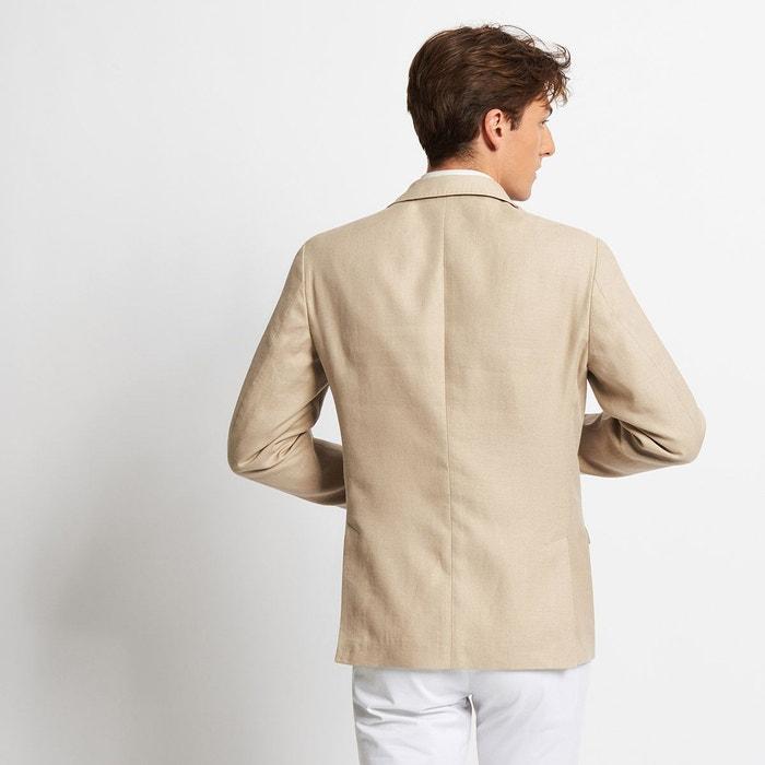 Veste beige en coton lin pour Homme Devred