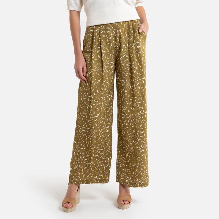 Bedrukte wijde broek ganda groen Samsoe And Samsoe | La Redoute