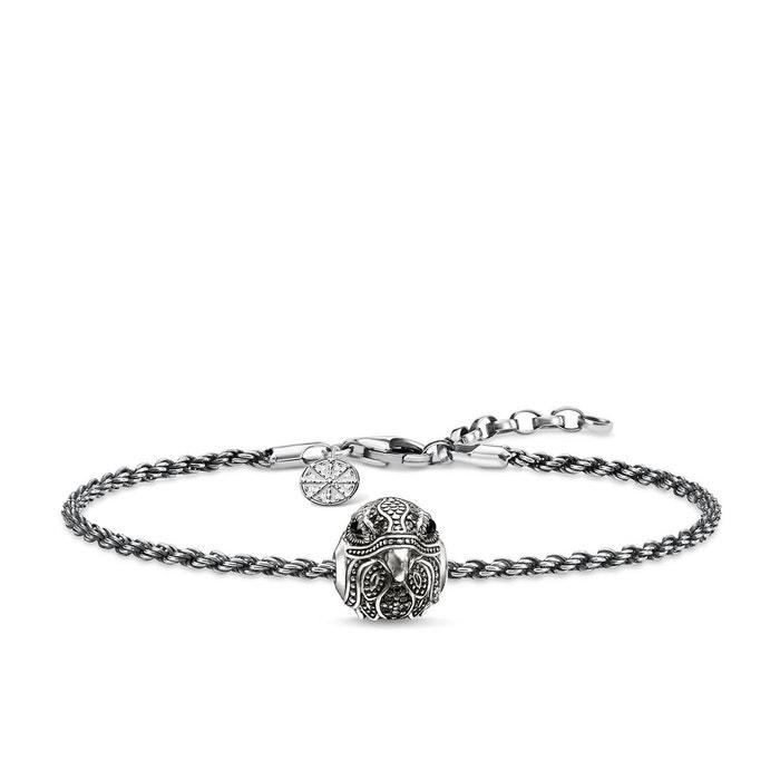 Thomas Sabo Femme 925 Argent|#Silver Noir Onyx Zircon