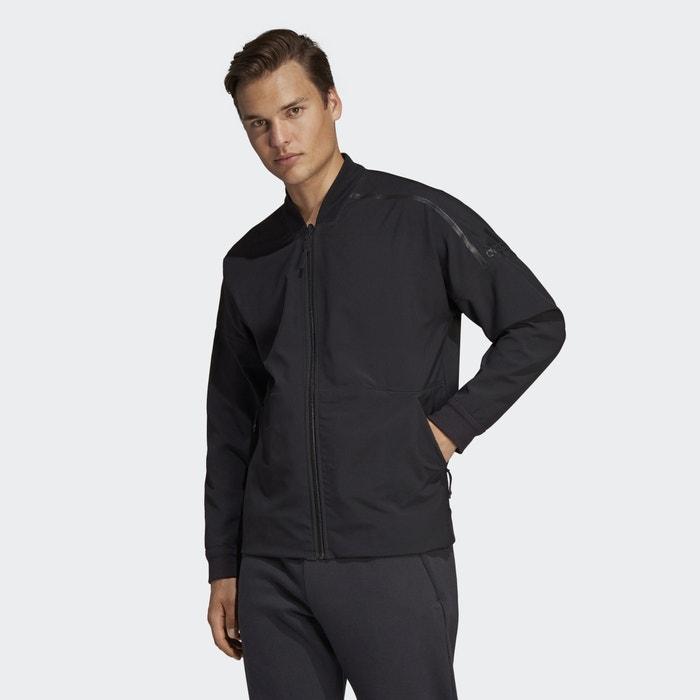 Veste zippée réversible Adidas Performance noir | La Redoute