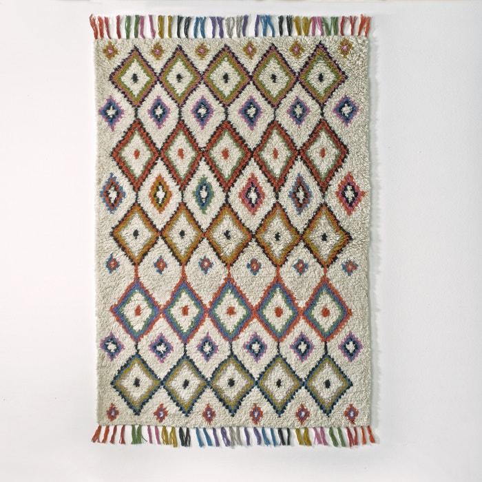 Ourika Berber Style Wool Rug Multi