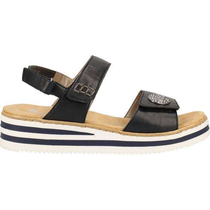 Sandales imitation cuir navy Rieker | La Redoute