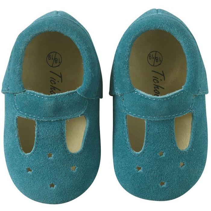 Tichoups Chaussures b/éb/é cuir souple Touti marine 16//17