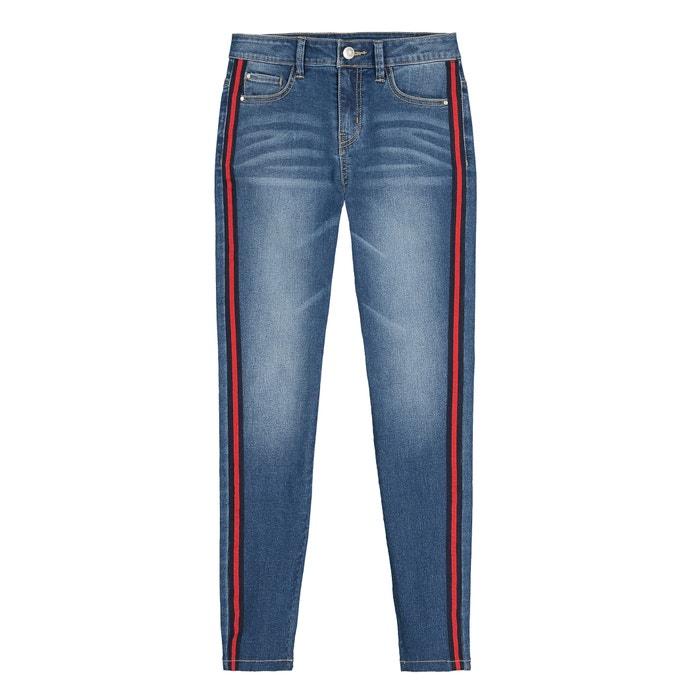 Jeans skinny, barra dos lados, 10 16 anos stone La Redoute