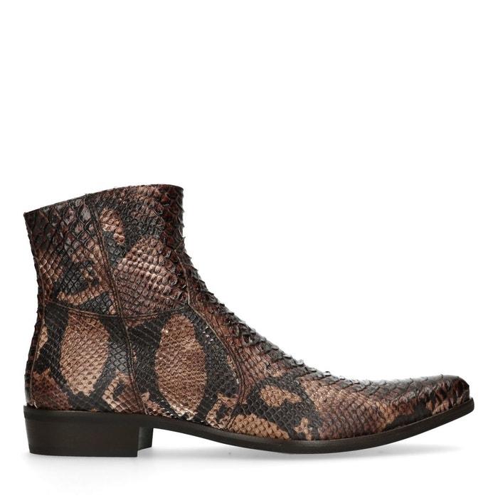 avec Boots cuir de impression serpent serpent en imprimé If7Yvb6gy