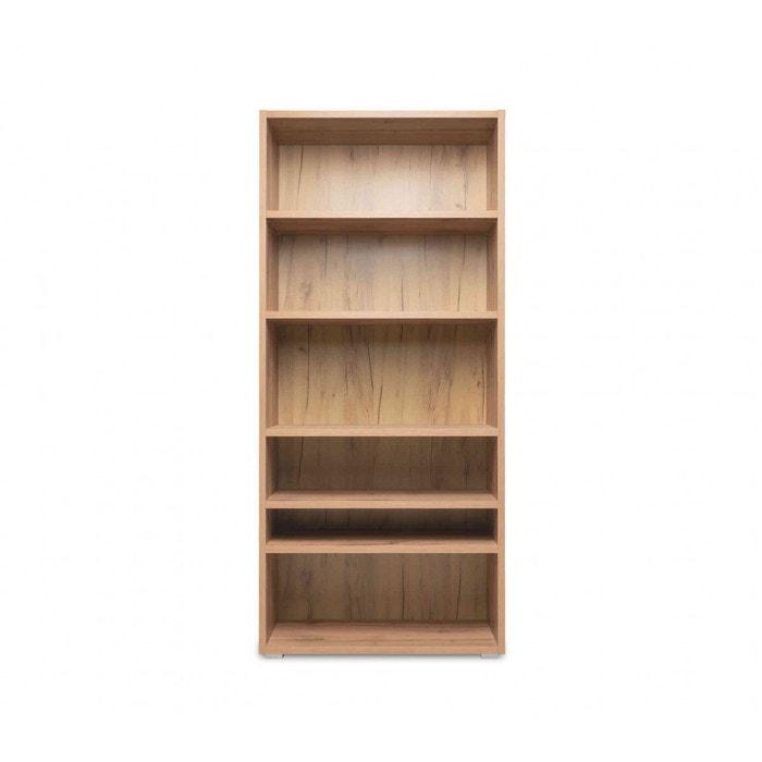 imitation en bois naturel BI7060 Bibliothèque chêne NwOymnv80