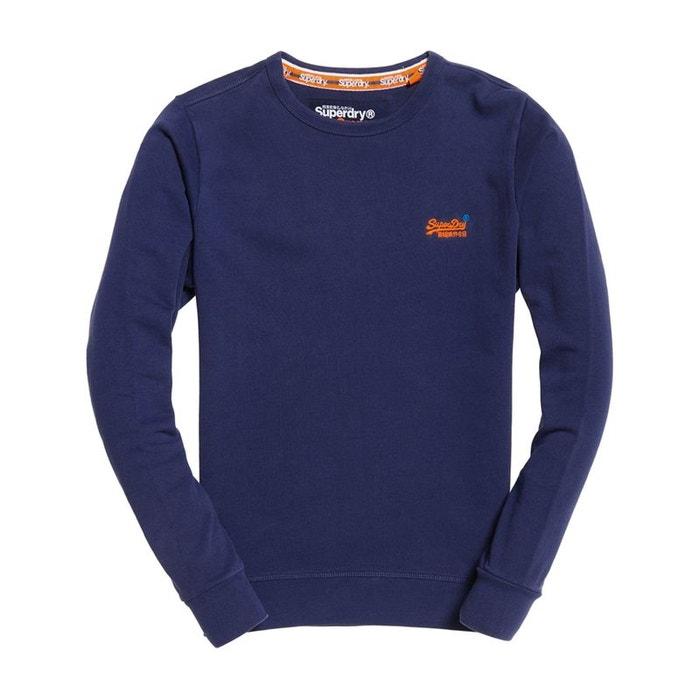 Sweat shirt ras du cou pastel line orange label Superdry