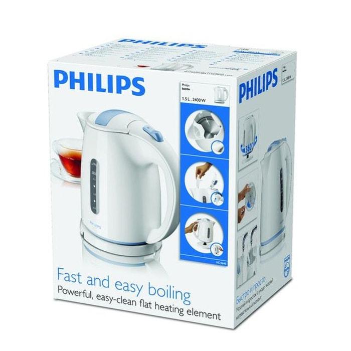 Bouilloire sans fil 1.5l 2400w blanc hd464600