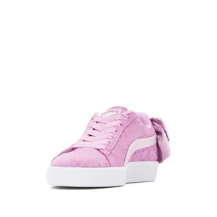 Suede bow dots trainers purple Puma | La Redoute