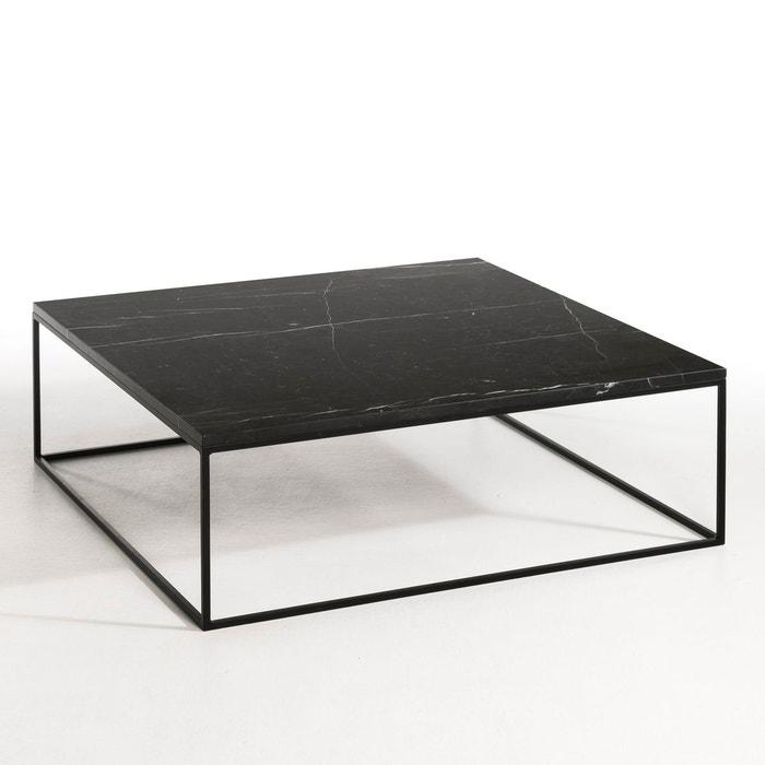 Table Basse Metal Noir Et Marbre Mahaut Marbre Noir Am Pm La