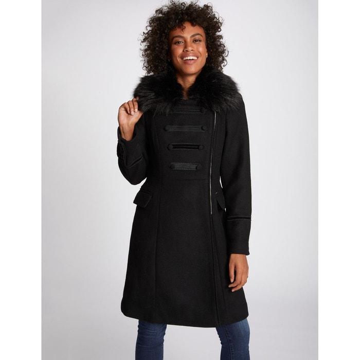 Manteau long fermeture zippée, mi saison noir Morgan | La