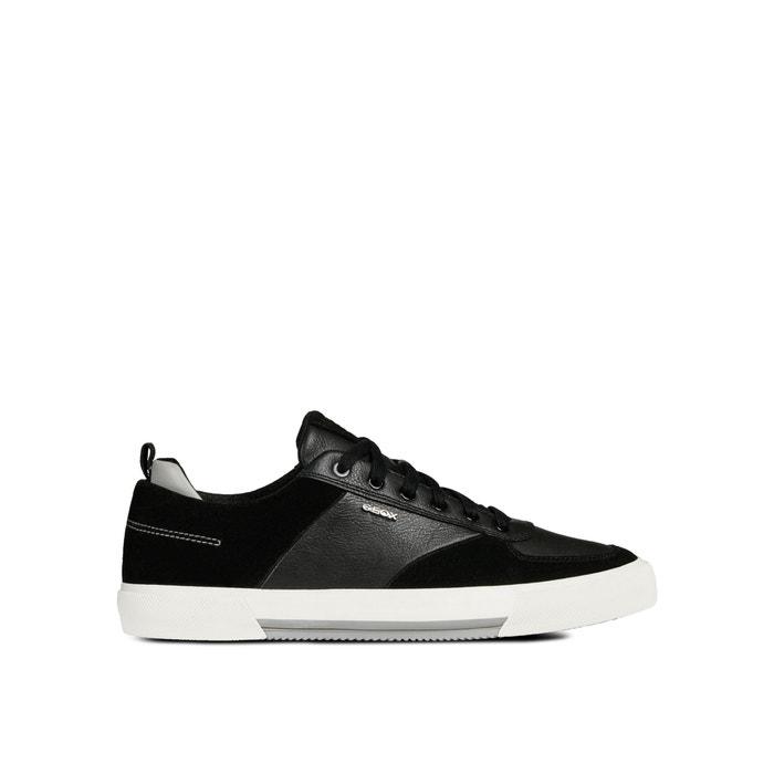 Geox Leder Sneakers in Schwarz atmungsaktive