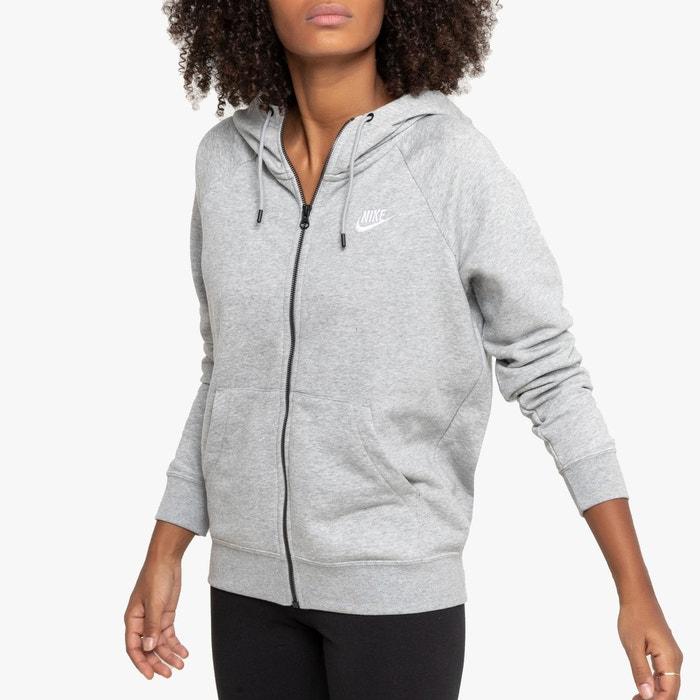 Veste sweat zippée essentiel hoodie à capuche gris Nike | La
