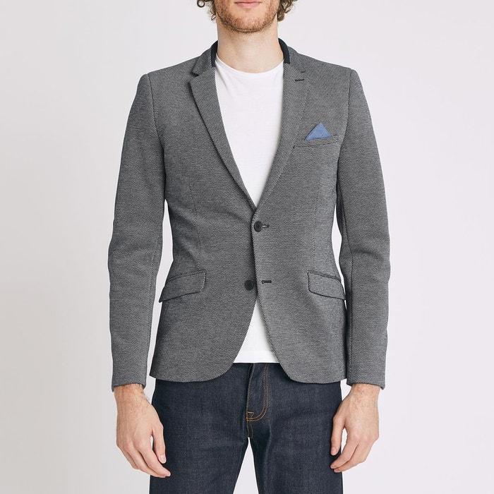 veste slim avec coudière en maille homme