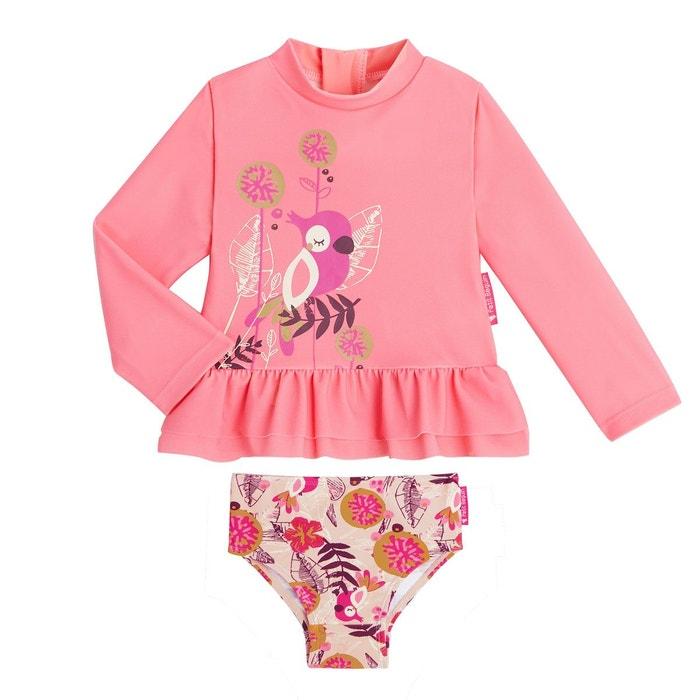 Maillot de bain ANTI-UV 2 pièces t-shirt & culotte Noumea  PETIT BEGUIN image 0
