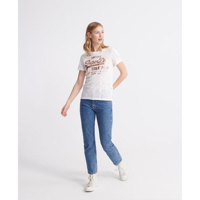 T shirt avec serpent à effet dévoré premium goods Superdry