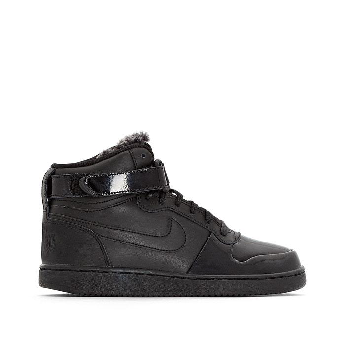 Ebernon mid premium high top trainers , black, Nike
