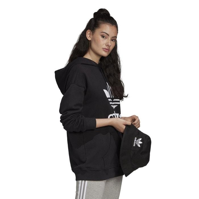 Sweat à capuche original trefoil Adidas Originals noir | La