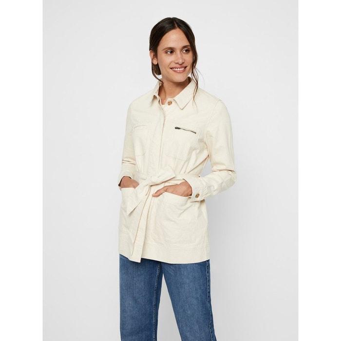 pretty cheap shop on feet images of Veste jean ceinture beige-birch Vero Moda | La Redoute