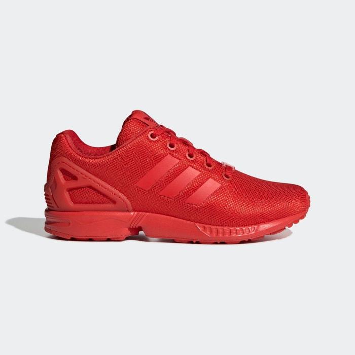 Baskets zx flux rouge Adidas Originals   La Redoute