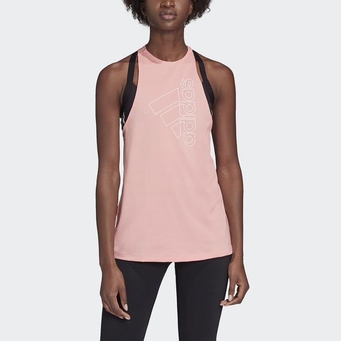 Badge of sport training vest , pink, Adidas Performance | La
