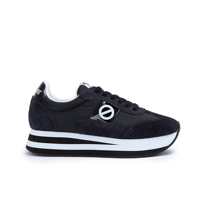 Baskets à lacets flex m jogger nylon split noir No Name