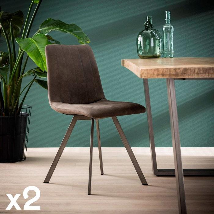Chaise contemporaine gris anthracite pour salle à manger ...