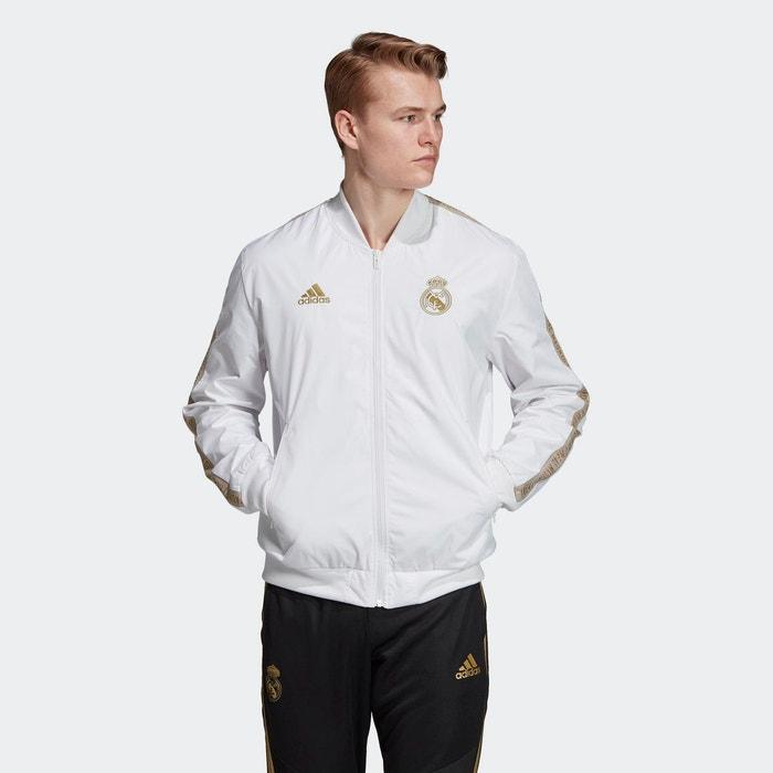 Veste real madrid anthem blanc Adidas Performance | La Redoute
