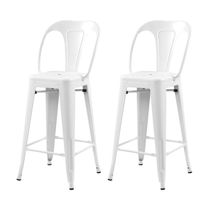 Chaise de bar mi hauteur indus mat 66 cm (lot de 2) Rendez