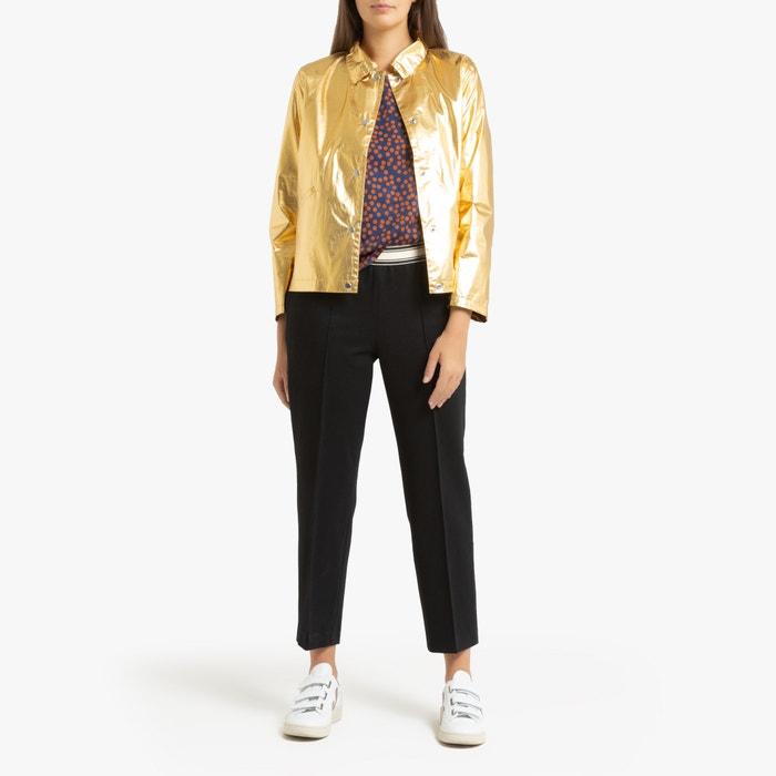 Kort metallic jasje met drukknopen leeb goudkleur Bellerose