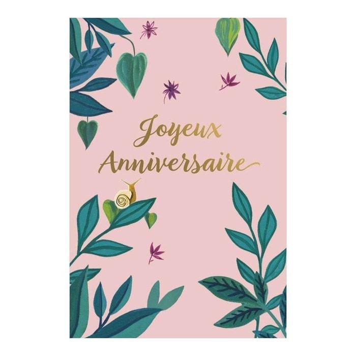 Carte De Voeux Joyeux Anniversaire Fleuri Multicolore Draeger La Carterie La Redoute