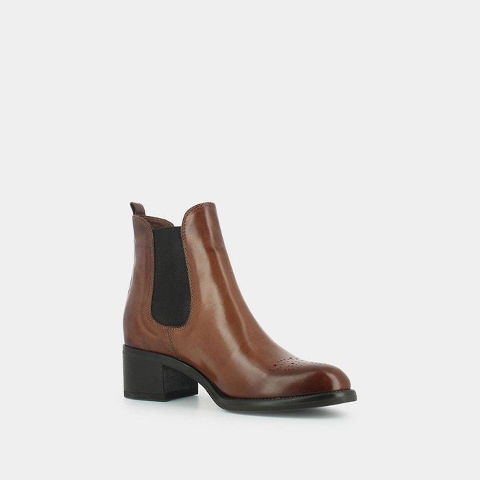 boots cuir vernis bella jonak