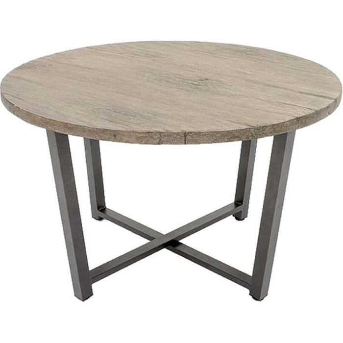 Table ronde en aluminium lausanne naturel Kettler   La Redoute