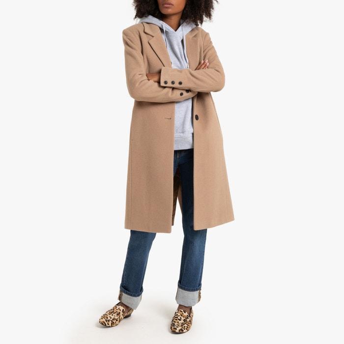 Langer mantel aus woll mix kamel La Redoute Collections | La
