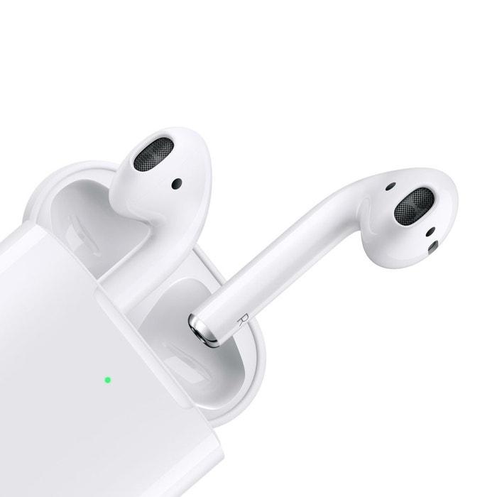Ecouteurs airpods 2 + étui de charge blanc Apple   La Redoute