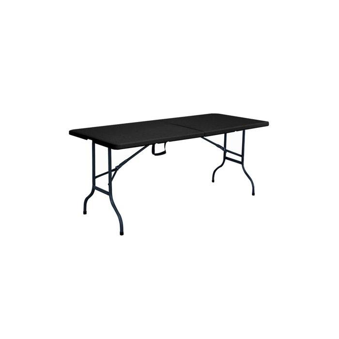 Table et chaise pliante - noir - ensemble de jardin pliable ...