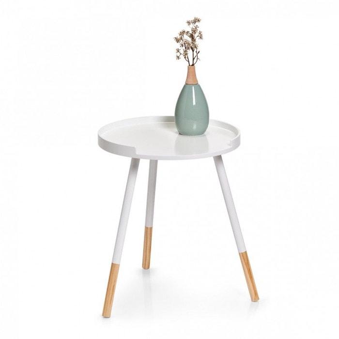 Petite Table Basse Ronde Bois Blanc Zeller Present La Redoute